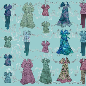 Batik Fashions - large - lt-aqua