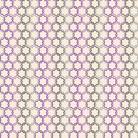 Purple and Gray Scallop Flowers fabric by sewdosomething on Spoonflower - custom fabric
