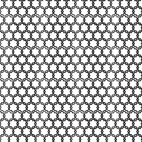 White and Black Scallop Flowers fabric by sewdosomething on Spoonflower - custom fabric
