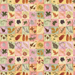 Autumn Botanical Squares