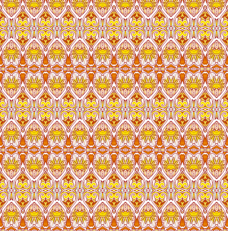 Sunshine in My Heart fabric by edsel2084 on Spoonflower - custom fabric