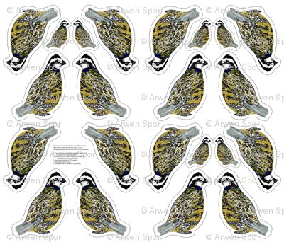 bobwhite quail plushie yard
