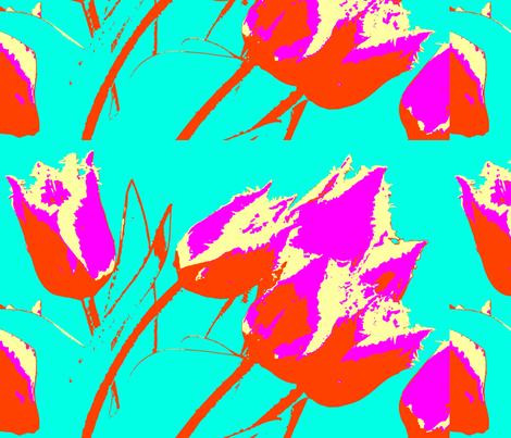tulips together again fabric by ann-dee on Spoonflower - custom fabric