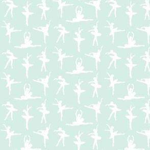 Ballerina Fabric Mint Green - Small