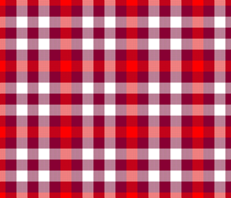Sixth Doctor Red Waistcoat Tartan fabric by bobgreenwade on Spoonflower - custom fabric