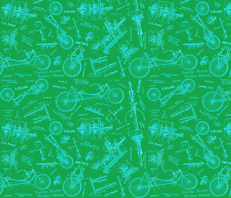 Recumbent Kelly fabric by brainsarepretty on Spoonflower - custom fabric