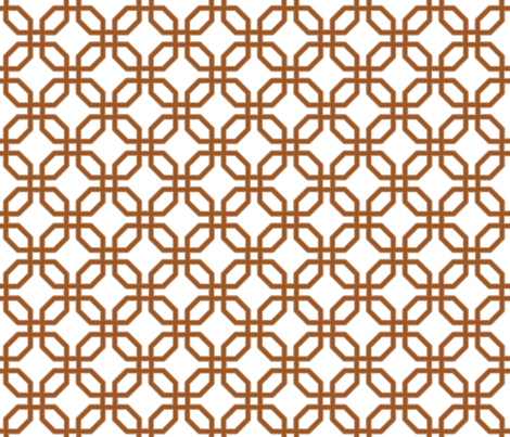 Iraqi Grille 1 -toast on white fabric by fireflower on Spoonflower - custom fabric