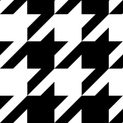 Medium Size Houndstooth Check - Black & White