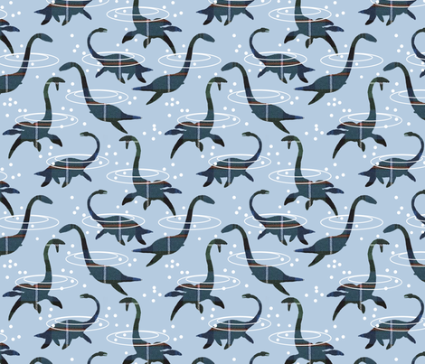 plesiosaur fabric by weejock on Spoonflower - custom fabric