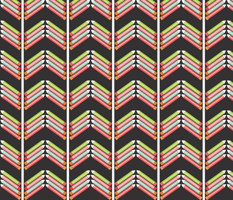 Pencil Chevron fabric by natitys on Spoonflower - custom fabric
