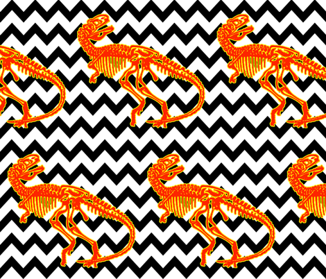 DINO_CHEVRON fabric by mammajamma on Spoonflower - custom fabric
