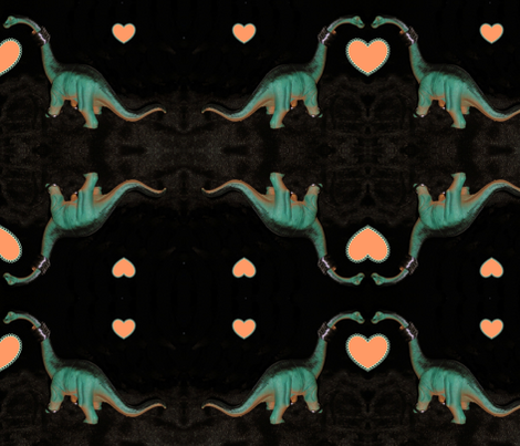 Jurassic Romance-ed fabric by clotilda_warhammer on Spoonflower - custom fabric