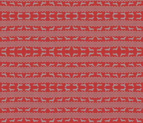 Oscar's Red Zigzag