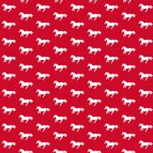 White Pony on Red