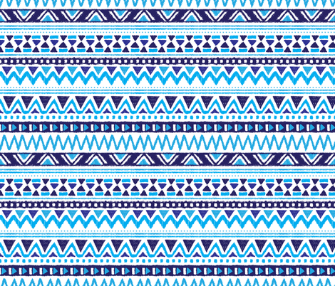Aztec winter folkore fabric by littlesmilemakers on Spoonflower - custom fabric