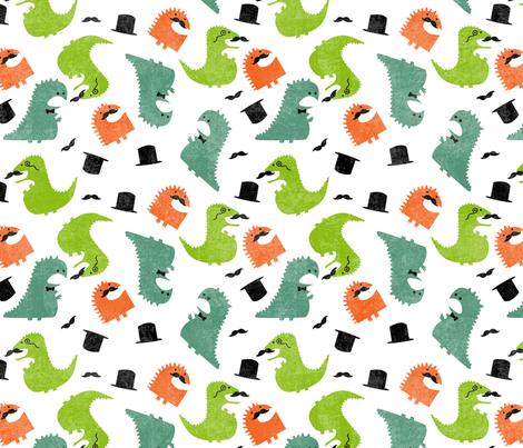DINOSIRS - Gentleman Dinosaurs fabric by lusyspoon on Spoonflower - custom fabric