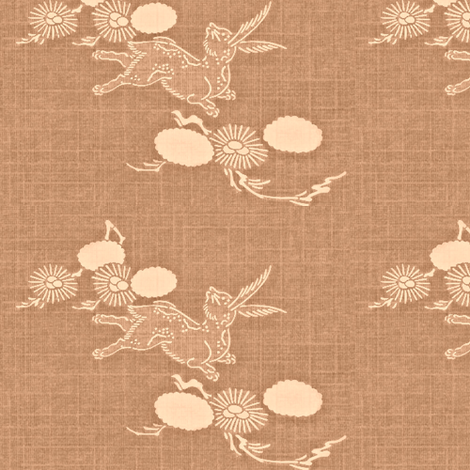 Woodland Hare - dusty rose fabric by materialsgirl on Spoonflower - custom fabric