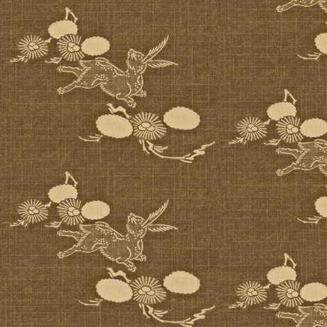 Woodland Hare - brown, beige  fabric by materialsgirl on Spoonflower - custom fabric