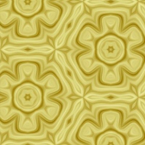 Yellow Gold Flower Pattern