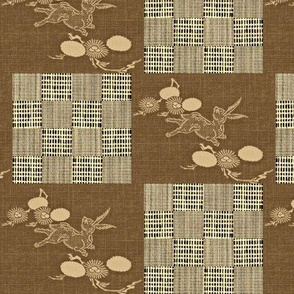 Woodland Hare - brown, beige, buttermilk
