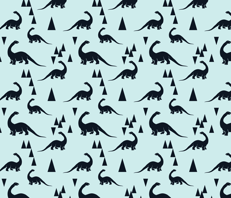 dino-ch fabric by linalissner on Spoonflower - custom fabric