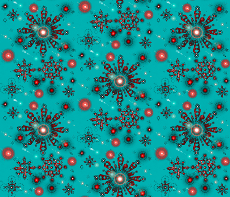 Sparkling stars fabric by joancaronil on Spoonflower - custom fabric