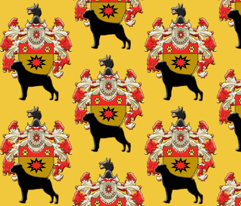 Rottweiler Coat Of Arms fabric fabric by dogdaze_ on Spoonflower - custom fabric