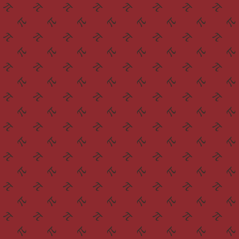 pi diamonds - autumn red fabric by weavingmajor on Spoonflower - custom fabric