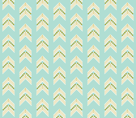 aqua gold chevron