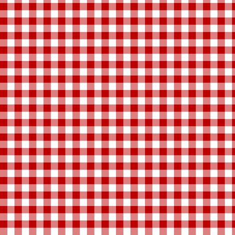 deep red gingham fabric by weavingmajor on Spoonflower - custom fabric