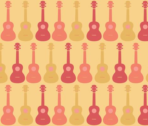 ukulele 4 fabric by owlandchickadee on Spoonflower - custom fabric