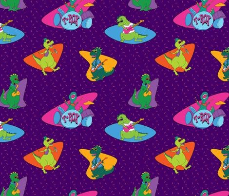ROCK n RAWR - Purple fabric by gnome_work on Spoonflower - custom fabric