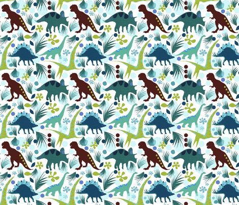 Dinosaur Days fabric by arttreedesigns on Spoonflower - custom fabric