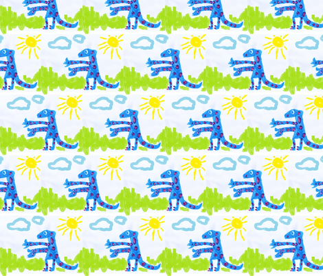 Dino Jay-Jay fabric by kidsart2sew on Spoonflower - custom fabric