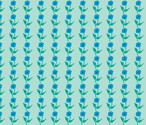 Blue flowers fabric by suziedesign on Spoonflower - custom fabric