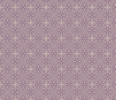 white swirls on purple fabric by suziedesign on Spoonflower - custom fabric