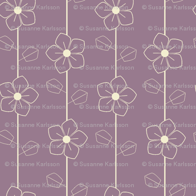 Purple retro flowers