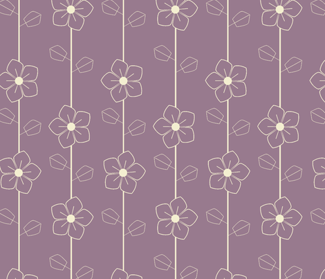 Purple retro flowers fabric by suziedesign on Spoonflower - custom fabric