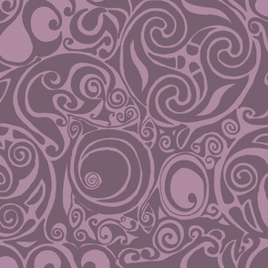 celtic pattern purple