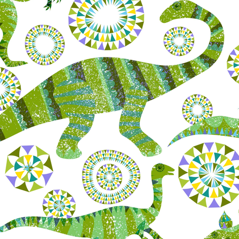 Dare the Dinotastic  fabric by vo_aka_virginiao on Spoonflower - custom fabric