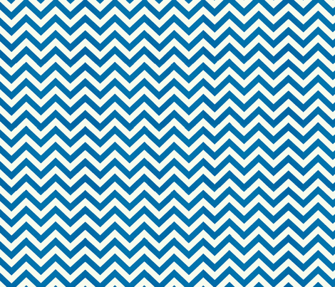 Simply Chevron in Cerulean Blue
