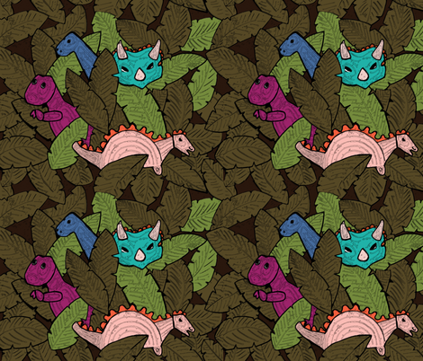 Dinos fabric by yazooky on Spoonflower - custom fabric