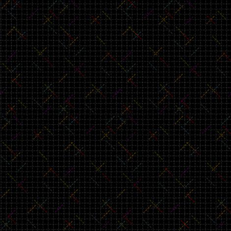 Cartesian coordinates fabric by glimmericks on Spoonflower - custom fabric