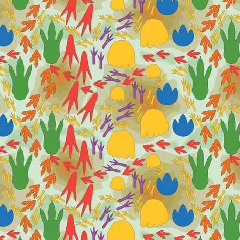 Dino Trax fabric by jjtrends on Spoonflower - custom fabric