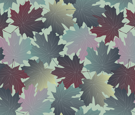 leaves fabric by kociara on Spoonflower - custom fabric