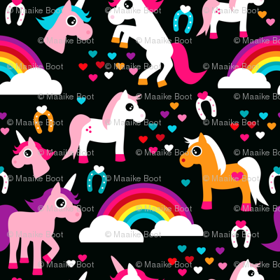Unicorn rainbow dream adorable horse illustration for girls