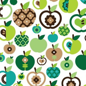 Retro apple kitchen print