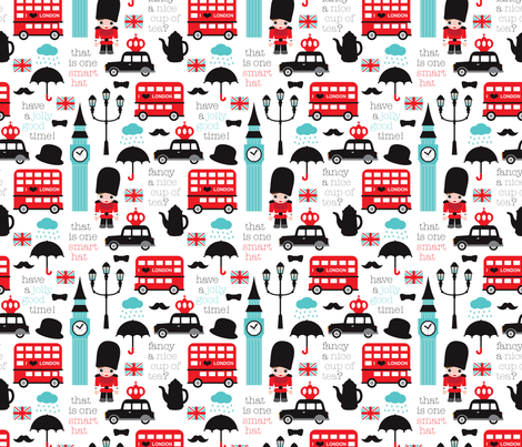 Crazy for London fabric by littlesmilemakers on Spoonflower - custom fabric