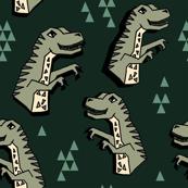 Dinosaur - Rifle Green/Artichoke/Viridian