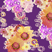 Digital Floral Wrap